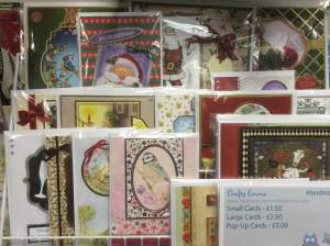 We even have handmade Christmas cards in too. Made by the lovley Emma at Crafty Emma