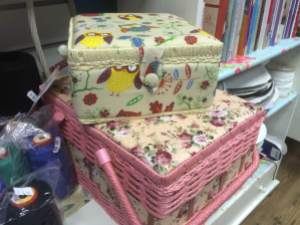gorgeous medium and large sewing boxes. Everyone needs storage :)
