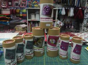 Craft kits are also available, jewellery, sewing and crochet!