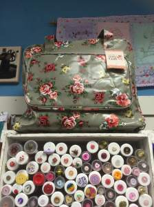 Sewing machine bags but are great to storage other things too (like lots a fabrics)