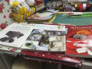 Something to read???  We have books on Knitting, Crochet, Sewing, Quilting, Patchwork, Felting and paper crafts.