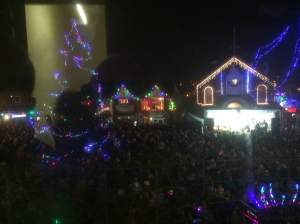 The view from the shop - Christmas lights