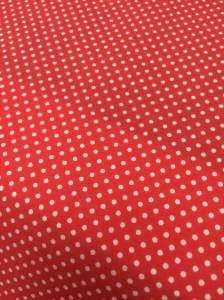 Red Small Spot Poly Cotton