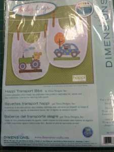 Cute Little Cross Stitch Bibs Kits from Dimensions
