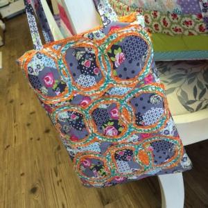 3rd textile art tote bag