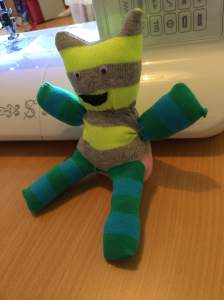 Sock Teddies made by the 12-16yr group