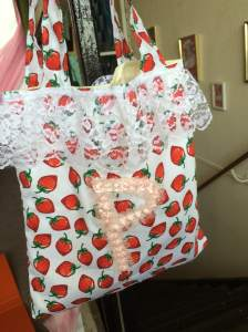 Mia's bag with embellishments